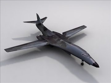 b1b usaf long range bomber lancer game 3d model 3ds max lwo hrc xsi obj 99574