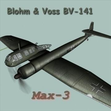 Blohm Voss BV141 3d líkan max 101955