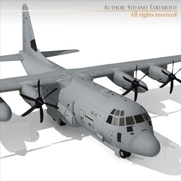 c 130j super hercules 3d model 3ds dxf c4d obj 101807