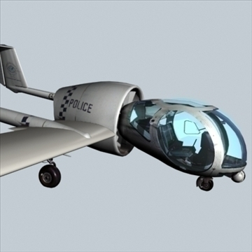 e7a optica surveilance aircraft 3d model max 96192