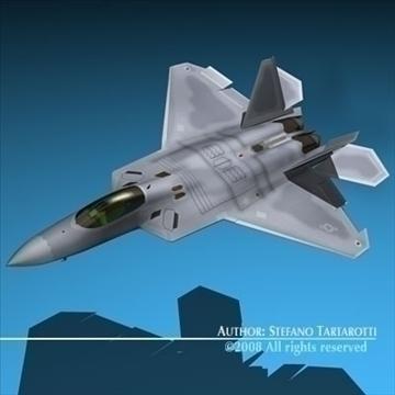 f22 raptor 3d model 3ds dxf c4d obj 89710