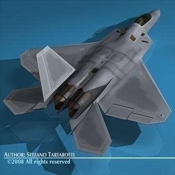f22 raptor 3d model 3ds dxf c4d obj 89714
