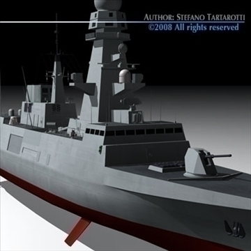 fremm multipurpose frigate 3d model 3ds dxf c4d obj 91938