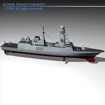 fremm multipurpose frigate 3d model 3ds dxf c4d obj 91939