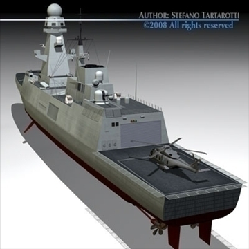 fremm multipurpose frigate 3d model 3ds dxf c4d obj 91940