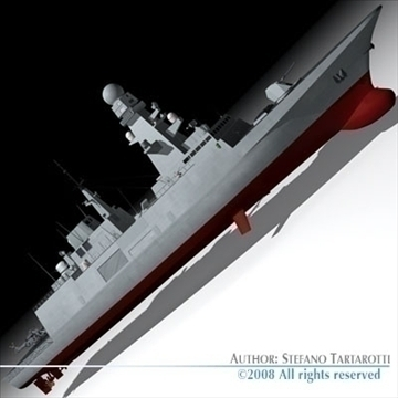 fremm multipurpose frigate 3d model 3ds dxf c4d obj 91943