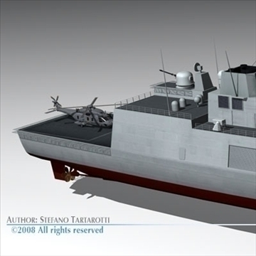 fremm multipurpose frigate 3d model 3ds dxf c4d obj 91945