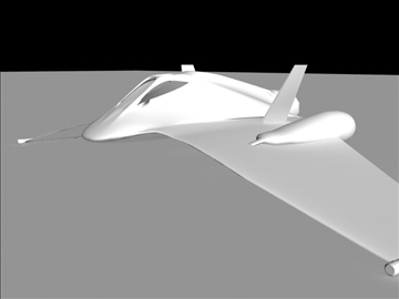 futuristic fighter 3d model 3ds max fbx obj 94015