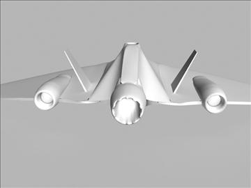futuristic fighter 3d model 3ds max fbx obj 94016