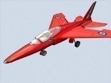 gnat red arrows livery 3d model 3ds max 79449