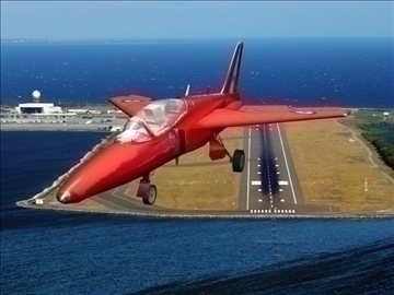 gnat red arrows livery 3d model 3ds max 79451