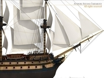 hms leopard sailing vessel 3d model 3ds dxf c4d obj 108004