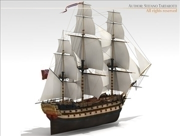 hms leopard sailing vessel 3d model 3ds dxf c4d obj 108005
