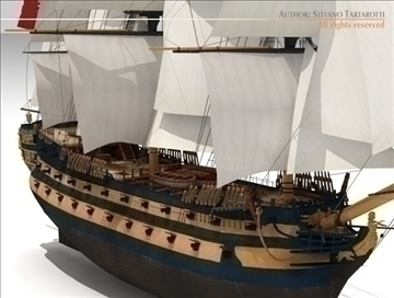 hms leopard sailing vessel 3d model 3ds dxf c4d obj 108007