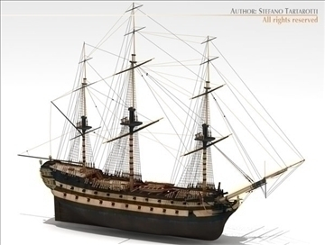 hms leopard sailing vessel 3d model 3ds dxf c4d obj 108008