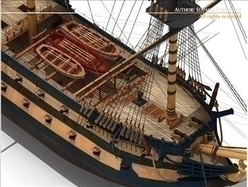 hms leopard sailing vessel 3d model 3ds dxf c4d obj 108010