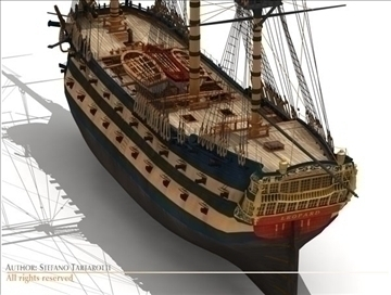 hms leopard sailing vessel 3d model 3ds dxf c4d obj 108011