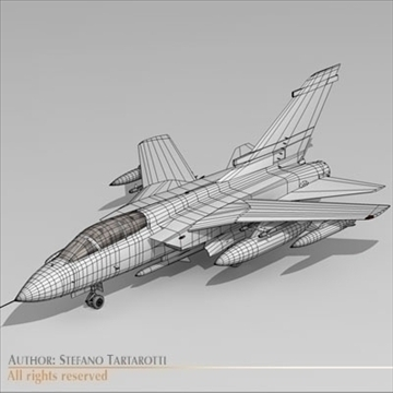 military airforce jet 3d model 3ds dxf c4d obj 104780