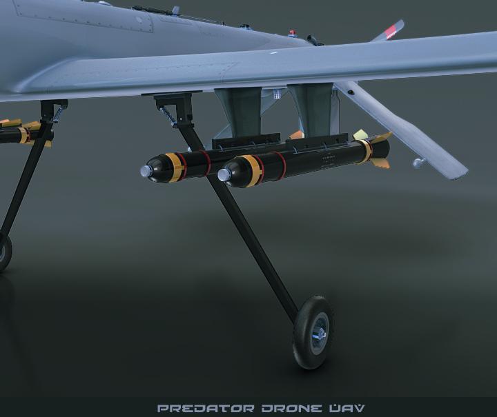 predator drone uav 3d model 3ds max fbx obj 116866