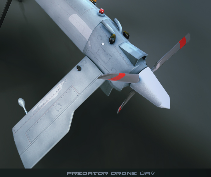 predator drone uav 3d model 3ds max fbx obj 116871