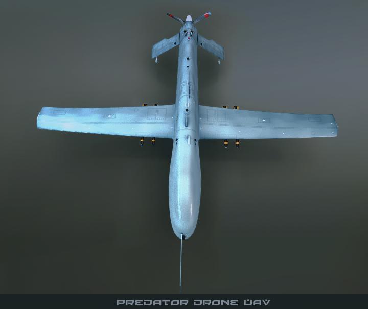 predator drone uav 3d model 3ds max fbx obj 116872