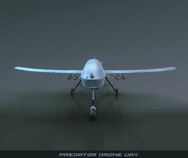 predator drone uav 3d model 3ds max fbx obj 116873