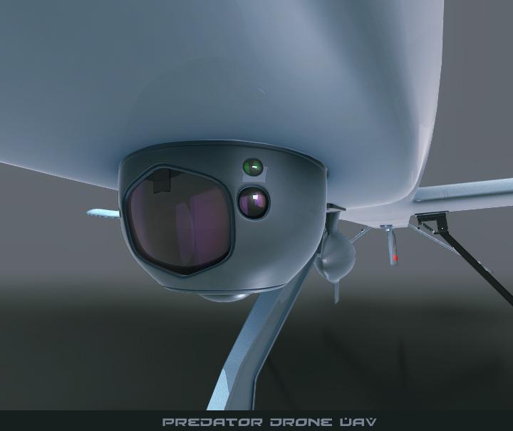 predator drone uav 3d model 3ds max fbx obj 116874