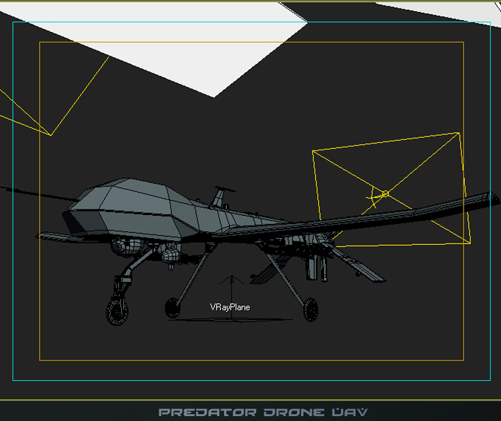 predator drone uav 3d model 3ds max fbx obj 116877