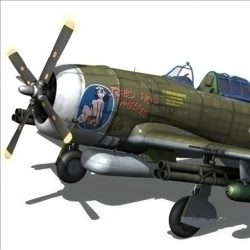 Republic P 47D Thunderbolt ( 66.85KB jpg by Panaristi )