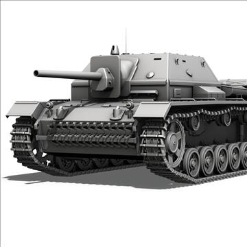 su 76i soviet assault gun 3d model c4d lwo obj 104136