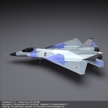 sukhoi pak fa t50 3d model 3ds fbx blend obj 108123
