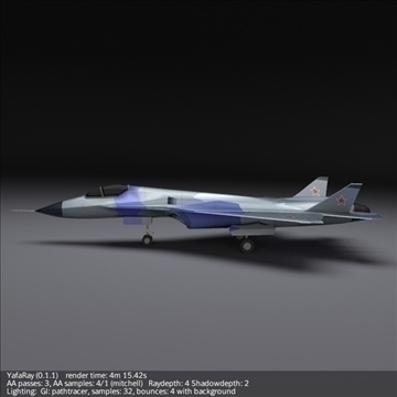 sukhoi pak fa t50 3d model 3ds fbx blend obj 108124