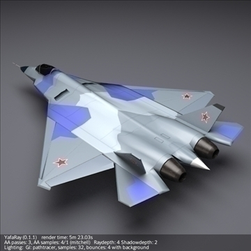 sukhoi pak fa t50 3d model 3ds fbx blend obj 108125