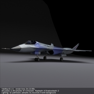 sukhoi pak fa t50 3d model 3ds fbx blend obj 108126