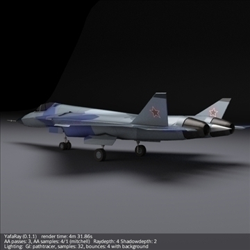 sukhoi pak fa t50 3d model 3ds fbx blend obj 108127