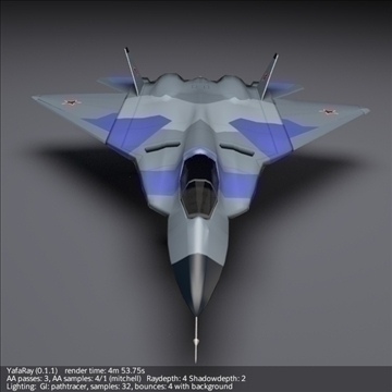 sukhoi pak fa t50 3d model 3ds fbx blend obj 108129