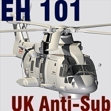uk navy eh-101 merlin helicopter 3ds 3d model 3ds 83252