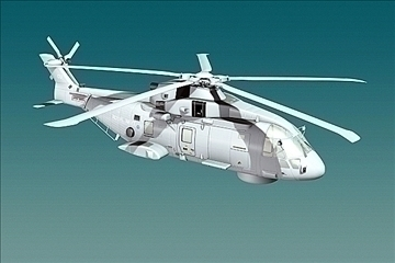 uk navy eh-101 merlin helicopter 3ds 3d model 3ds 83253