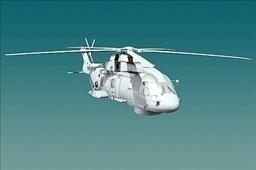 uk navy eh-101 merlin helicopter 3ds 3d model 3ds 83254