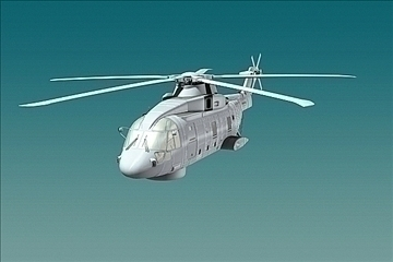 uk navy eh-101 merlin helicopter 3ds 3d model 3ds 83256