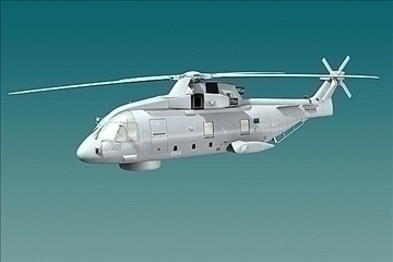 uk navy eh-101 merlin helicopter 3ds 3d model 3ds 83257