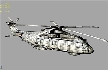 uk navy eh-101 merlin helicopter 3ds 3d model 3ds 83261