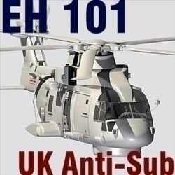 UK Navy EH-101 Merlin helicopter 3DS ( 88.57KB jpg by CamelotShipyardInc )