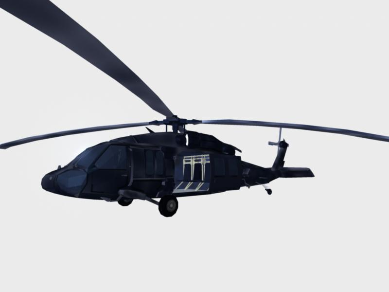 Black Hawk Chopper: Navy seal version 3d modell MA MB 161286