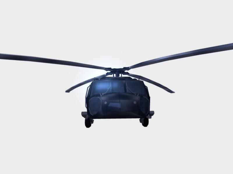 black hawk chopper : navy seal version 3d model ma mb 161287