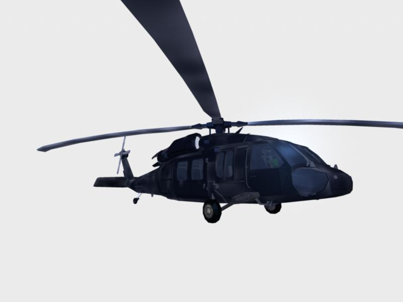 black hawk chopper : navy seal version 3d model ma mb 161288