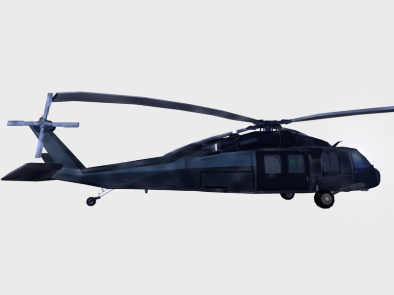 black hawk chopper : navy seal version 3d model ma mb 161289