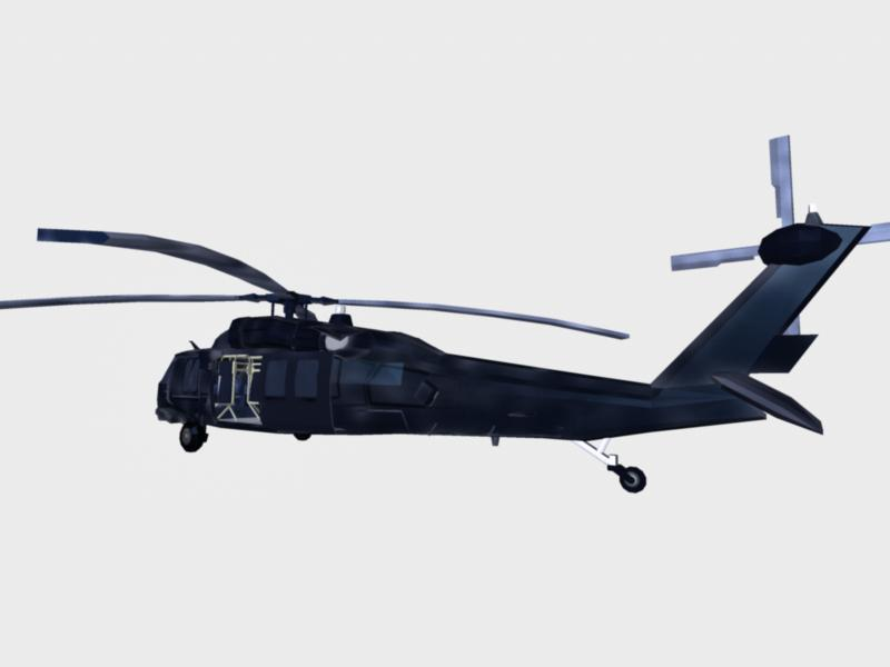 black hawk chopper : navy seal version 3d model ma mb 161290