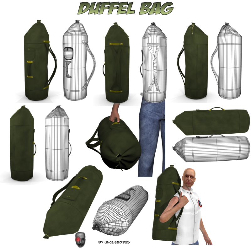 duffel bag 3d model obj 164326