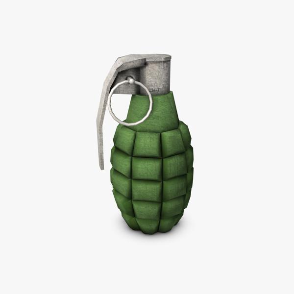 grenade lámh íseal polai samhail 3d 3ds max fbx c4d obj 139411